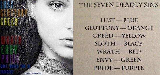branded seven deadly sins collage