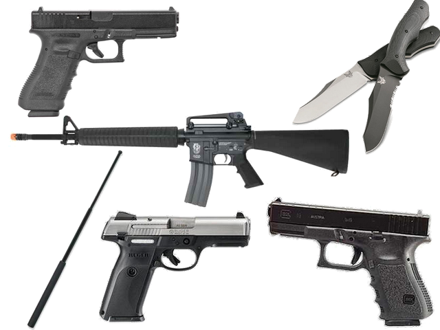 branded weapons collage